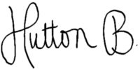 HUTTON B Signature